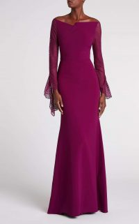 ROLAND MOURET DELAMERE GOWN in ORCHID / elegant event gowns