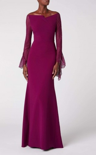 ROLAND MOURET DELAMERE GOWN in ORCHID ~ elegant event gowns - flipped