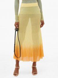 JACQUEMUS Helado gradient rib-knitted midi skirt