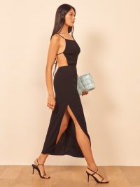 Reformation Houston Dress in Black | LBD | strappy open back dresses