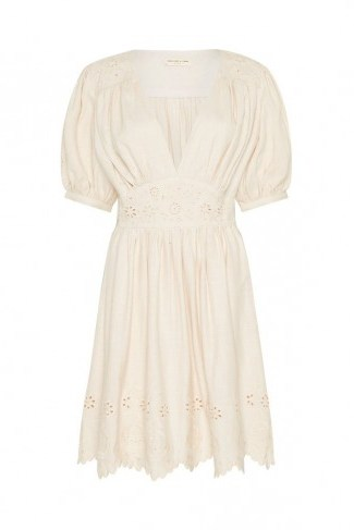 SPELL and the GYPSY COLLECTIVE IMOGEN EMBROIDERED PARTY DRESS in Cream - flipped
