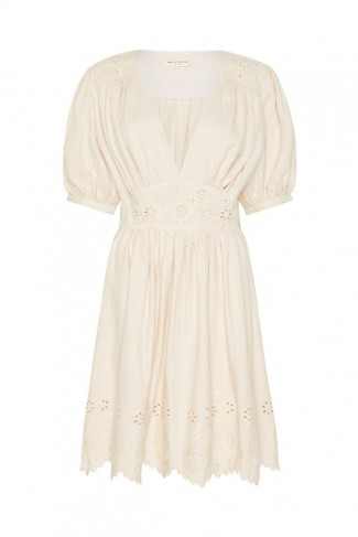 SPELL and the GYPSY COLLECTIVE IMOGEN EMBROIDERED PARTY DRESS in Cream