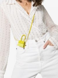 Jacquemus Yellow Le Petit Chiquito Mini Leather Tote Bag ~ bright teeny-weeny bags