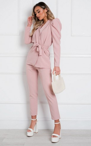Ikrush Jess Tailored Suit Co-ord in Pink – perfect pant suits