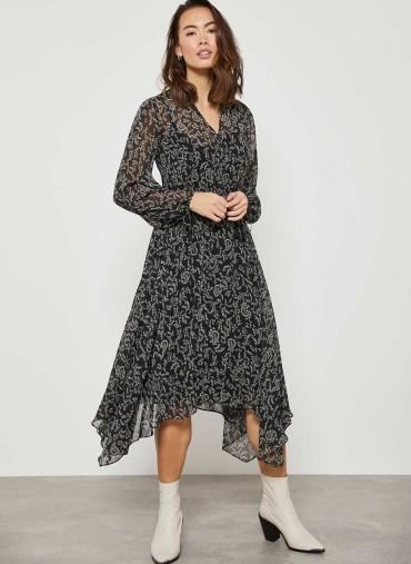 MINT VELVET Jessica V-Neck Boho Midi Dress