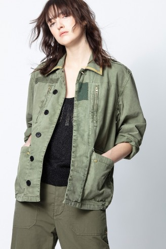 Zadig & Voltaire KID MILI JACKET in khaki