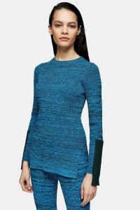 Topshop Boutique Blue Knitted Top
