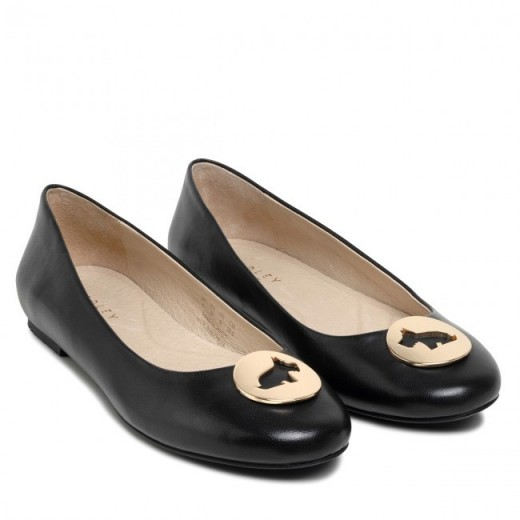 RADLEY LONDON SELBY BALLET PUMP in BLACK / scottie dog flats