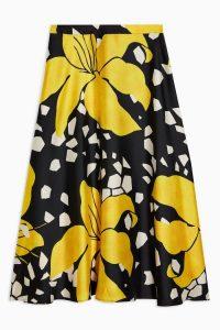 Topshop Boutique Lily Print Skirt | large floral prints