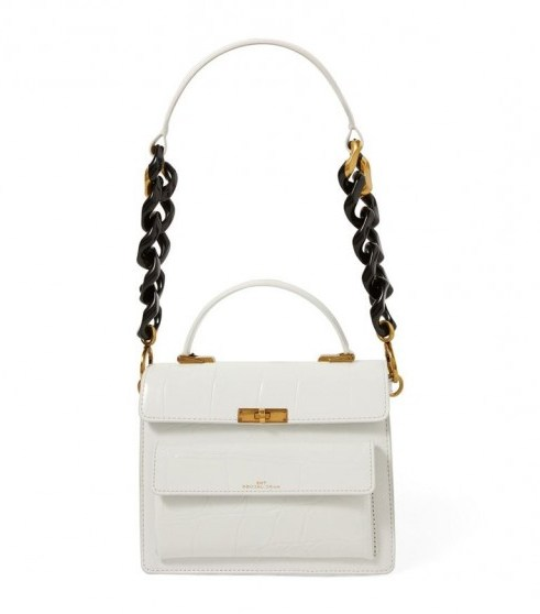 Marc Jacobs The Embossed Leather Uptown Shoulder Bag in White - flipped