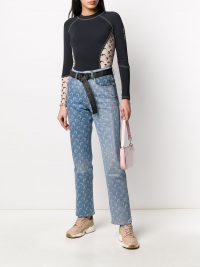 MARINE SERRE all-over print jeans