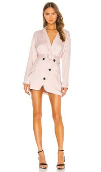Marissa Webb Cyrus Suit Dress in Blush