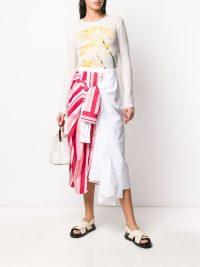 MARNI panelled tie-waist skirt | candy stripes