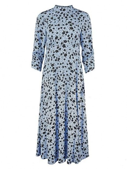 OLIVER BONAS Martha Blue Floral Print Midi Dress