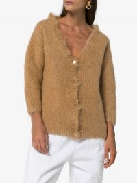 Miu Miu Brushed Mohair Cardigan | cropped sleeve cardigans