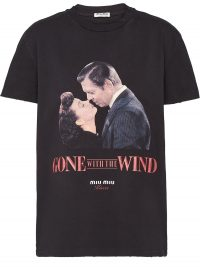 MIU MIU Kisses straight-fit T-shirt in Black / Gone With The Wind tee