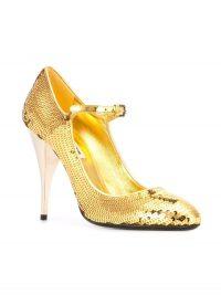MIU MIU Gold sequin Mary Jane pumps