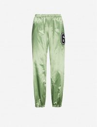 MM6 MAISON MARGIELA MM6 satin jogging bottoms in mint ~ sports luxe joggers
