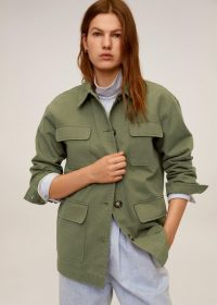 MANGO Multi-pocket cotton jacket in khaki REF. 67016303-MARGOT-LM