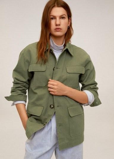 MANGO Multi-pocket cotton jacket in khaki REF. 67016303-MARGOT-LM - flipped
