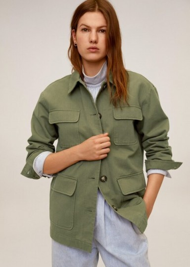 MANGO Multi-pocket cotton jacket in khaki REF. 67016303-MARGOT-LM