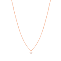 Astrid & Miyu Mystic Star Necklace in Rose Gold / tiny pendants / delicate necklaces