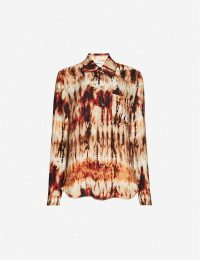 NANUSHKA Celes abstract-print woven shirt in tie dye