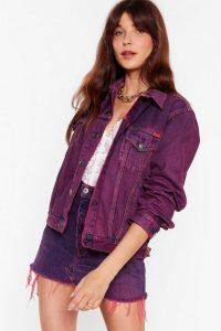 Nasty Gal Vintage Dye-ing to See Ya Denim Jacket