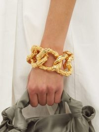 ALIGHIERI No More Tears 24kt gold-plated bracelet ~ chunky chain link bracelets