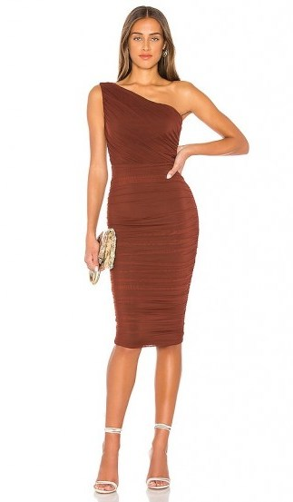 Nookie X REVOLVE Inspire One Shoulder Midi Dress in Chocolate - flipped