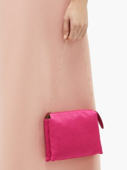 THE ROW Nu Twin mini satin shoulder bag in fuchsia