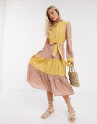 Only midi dress in mixed print – floral dresses