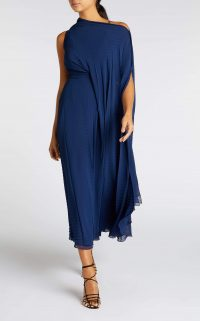 ROLAND MOURET ORDESA DRESS in NAVY