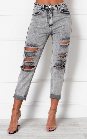 IKRUSH Orlagh Distressed Straight Leg Jeans in Alien - flipped