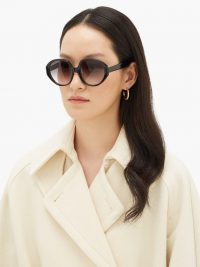 KALEOS Paley angular acetate sunglasses in black – large sunnies