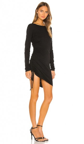 Pam & GelaSide Ruched Dress in Black