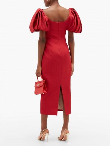 EMILIA WICKSTEAD Petunia puffed-sleeve textured-cloqué dress – matches fashion