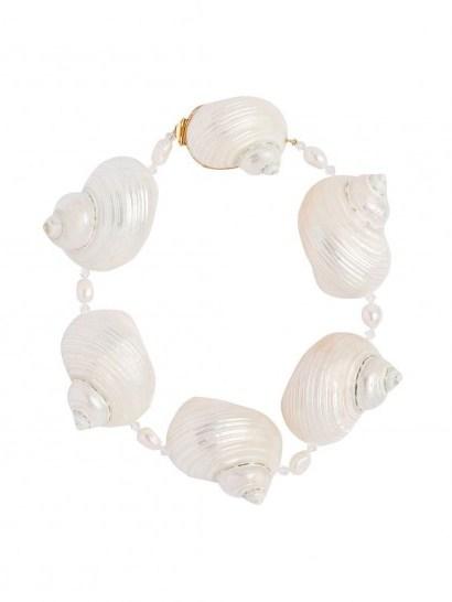 PRADA oversized shell choker / ocean inspired necklaces / shells - flipped