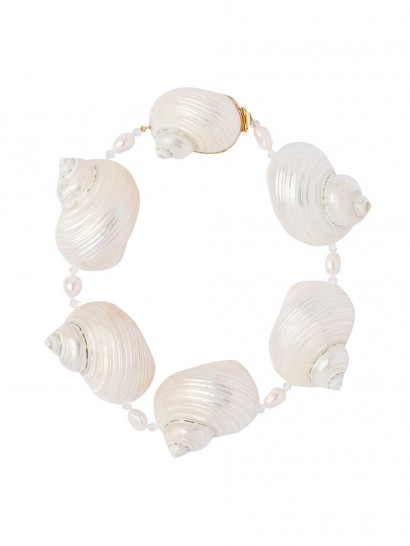 PRADA oversized shell choker / ocean inspired necklaces / shells