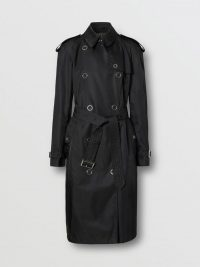 Burberry Press-stud Detail ECONYL Trench Coat Black
