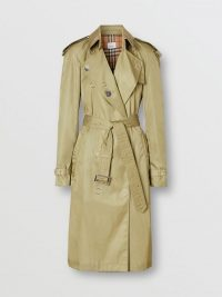 Burberry Press-stud Detail ECONYL Trench Coat Rich Olive | green belted macs
