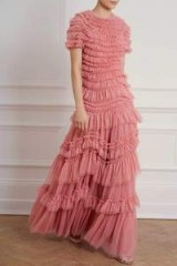 NEEDLE & TREAD WILD ROSE RUFFLE GOWN in SUN BLUSH | ruffled event gowns