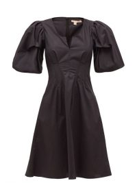 BROCK COLLECTION Puff-sleeve cotton-blend dress in black