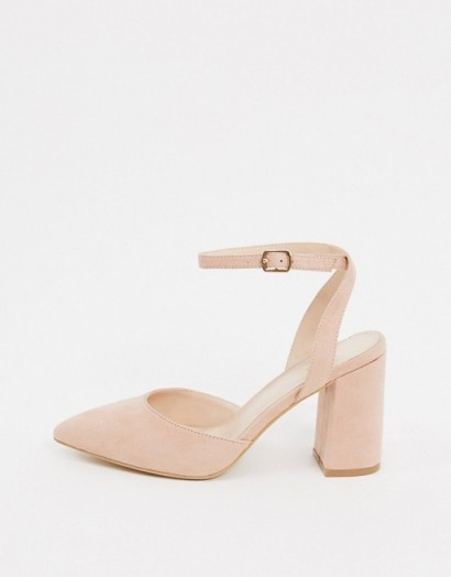RAID Exclusive Neima block heeled shoes in blush