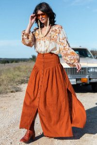 SPELL and the GYPSY COLLECTIVE RANI MAXI SKIRT in Copper