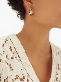 ETRO Resin-embellished hoop earrings ~ chunky hoops