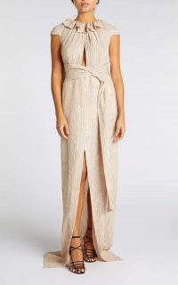 ROLAND MOURET RILA GOWN in MINK ~ luxe event gowns