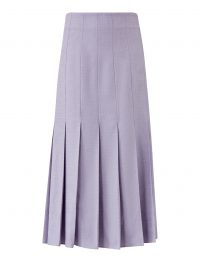 Joseph Saari Shantung Linen Skirt in Parme | pleated skirts