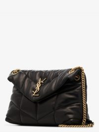 Saint Laurent Black Loulou Puffer Small Leather Shoulder Bag ~ classic quilted flap bags