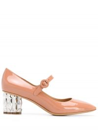 SALVATORE FERRAGAMO Mary Jane pink patent leather pumps